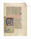 Initial C: The Emperor of Constantinople Enshrining the Body of Saint Anthony by Master of the Brussels Romuléon