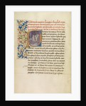 Initial P: Bishop Theophilus and His Companions Following a Star for Forty Days by Master of the Brussels Romuléon