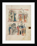 Saint Hedwig and the New Convent, Nuns from Bamberg Settling at the New Convent by Court workshop of Duke Ludwig I of Liegnitz and Brieg