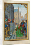 Joseph of Arimathea Before Pilate by Simon Bening