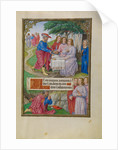 Abraham and the Three Angels by Master of James IV of Scotland