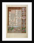 Reaping, Zodiacal Sign of Virgo by Workshop of the Master of James IV of Scotland