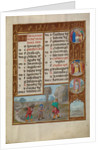 Working in a Vineyard, Zodiacal Sign of Pisces by Workshop of the Master of James IV of Scotland