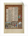 Farm Animals, Milking, and Buttermaking, Zodiacal Sign of Taurus by Workshop of the Master of James IV of Scotland