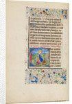 Initial E: Saint Margaret and a Dragon by Master of the Llangattock Hours