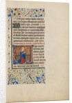 Initial V: Saint Apollonia with a Book and Tongs by Master of the Llangattock Hours