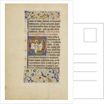 Initial O: The Man of Sorrows by Master of the Llangattock Hours