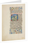 Initial G: Saint George and the Dragon by Master of the Llangattock Hours