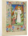 A Patron and His Guardian Angel by Master of Sir John Fastolf