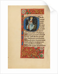 Initial G: Saint Margaret by Master of the Dresden Prayer Book