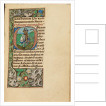 Initial G: Saint George and the Dragon by Master of the Dresden Prayer Book