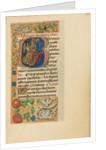 Initial B: Saint Nicholas by Master of the Dresden Prayer Book