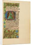 Initial E: Saint Sebastian by Master of the Dresden Prayer Book