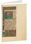 Initial A: Saint Adrian by Master of the Dresden Prayer Book