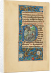 Initial P: Saint Peter and the Conversion of Saint Paul by Master of the Dresden Prayer Book