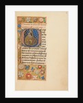 Initial O: Madonna of Humility by Master of the Dresden Prayer Book