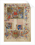 Christ in Majesty, Initial A: A Man Lifting His Soul to God by Master of the Brussels Initials