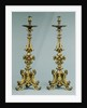 Pair of Altar Candlesticks by Anonymous