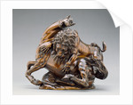 Lion Attacking a Horse and Lion Attacking a Bull by Antonio Susini