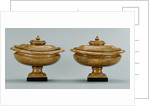Pair of lidded alabaster vases by Anonymous