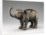 Elephant with Raised Trunk by Anonymous