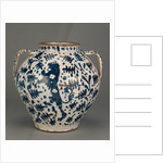 Relief-Blue Jar with Rampant Lions by Anonymous