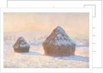 Wheatstacks, Snow Effect, Morning (Meules, Effet de Neige, Le Matin) by Claude Monet