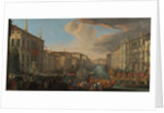 Regatta on the Grand Canal in Honor of Frederick IV, King of Denmark by Luca Carlevarijs