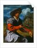 Shepherd with a Flute by Giovanni Girolamo Savoldo