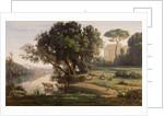 Italian Landscape (Site d'Italie, Soleil Levant) by Jean-Baptiste-Camille Corot