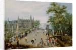 A Jeu de Paume Before a Country Palace by Adriaen van de Venne
