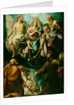 Coronation of the Virgin with Saints Joseph and Francis of Assisi by Giulio Cesare Procaccini