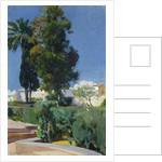 Corner of the Garden, Alcazar, Sevilla by Joaquin Sorolla y Bastida