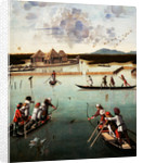 Hunting on the Lagoon (recto), Letter Rack (verso) by Vittore Carpaccio