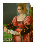 Portrait of a Woman with a Book of Music by Bacchiacca
