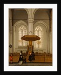 Interior of the Laurenskerk at Rotterdam by Anthonie De Lorme