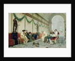 Interior of Roman Building with Figures by Ettore Forti
