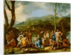 Saint John Baptizing in the River Jordan by Nicolas Poussin