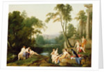 Diana and Her Nymphs in a Landscape by Laurent de La Hyre