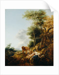 Landscape with a Nymph and a Satyr by Nicolaes Berchem
