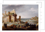 Moses and Aaron Changing the Rivers of Egypt to Blood by Bartholomeus Breenbergh