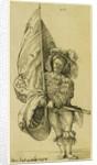 A Standard Bearer by Sebald Beham