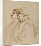 Caricature of Two Men Seen in Profile by Guercino