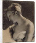 Head of a Woman: Study for The Happy Mother (L'Heureuse mère) by Pierre-Paul Prud'hon