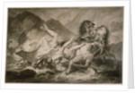 Death of Hippolytos by Carle Vernet