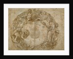 Design for a Circular Dish (recto), Figure Studies (verso) by Taddeo Zuccaro
