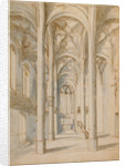Interior of a Gothic Church by Paul Juvenal the Elder