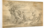 Venus Seated in Her Sea Chariot Suckling Cupid by Alessandro Algardi