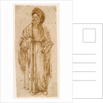 Standing man wearing a turban by Giovanni Bellini