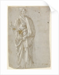 Standing Saint (recto), Studies of Christ at the Column, a Nude from Behind, and Various Figures (verso) by Filippino Lippi
